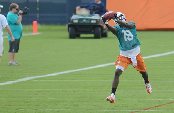 Even though Tannehill has plenty of new weapons, which include Pro Bowl receiver Mike Wallace, holdovers like Brian Hartline and Armon Binns remain his favorite targets during the offseason program. Chemistry takes time to develop and Tannehill's working to establish it with Wallace, Brandon Gibson and tight end Dustin Keller.