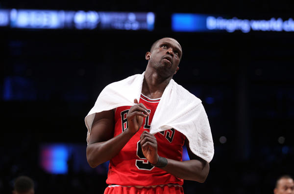 Luol Deng reacts in final seconds of 110-91 loss to the Nets in Game 5.
