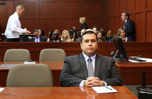 George Zimmerman waits for his defense counsel to arrive in court for his second-degreemurder trial, in Sanford, Fla.