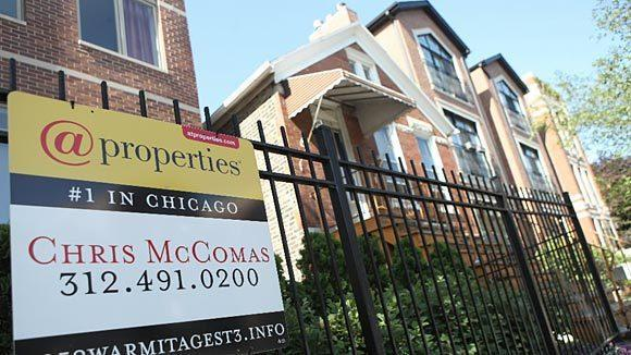 Chicago home prices were up 3 percent in April, according to the S&P/Case-Shiller index.