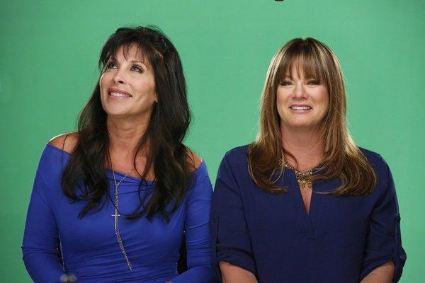 "Jeana (left) and Tammy reflect on their reality TV memories on the 100th episode of ""Real Housewives of Orange County."""