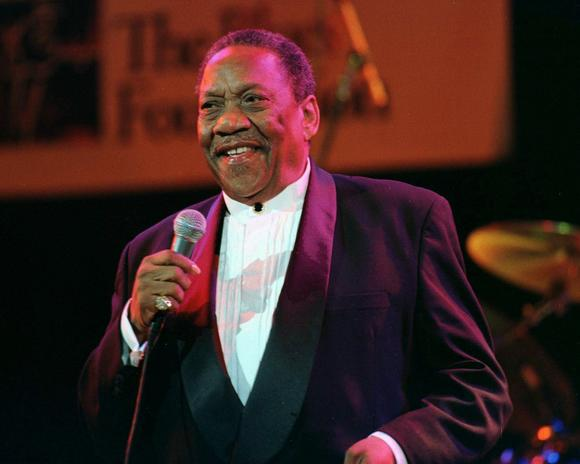 "Blues singer Bobby ""Blue"" Bland photographed in 1998."