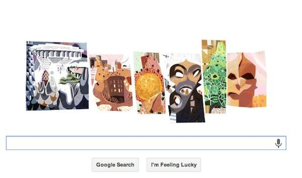 Legendary architect Antoni Gaud was honored with a Google doodle.