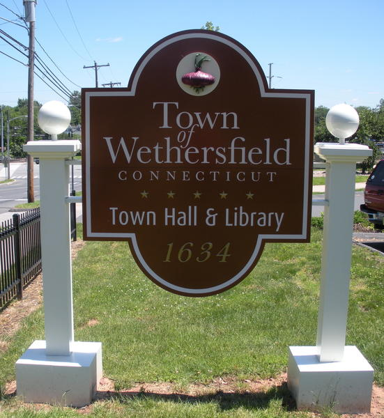 The Wethersfield Town Hall & Library is located at 515 Silas Deane Hwy.