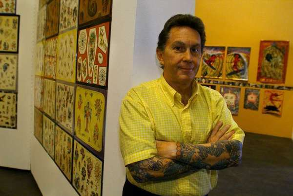 """Ed Hardy, shown in 1999, will be signing copies of his new memoir """"Wear Your Dreams: My Life in Tattoos."""""""