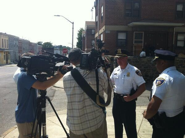 Deputy Commissioner John Skinner talks to the media.