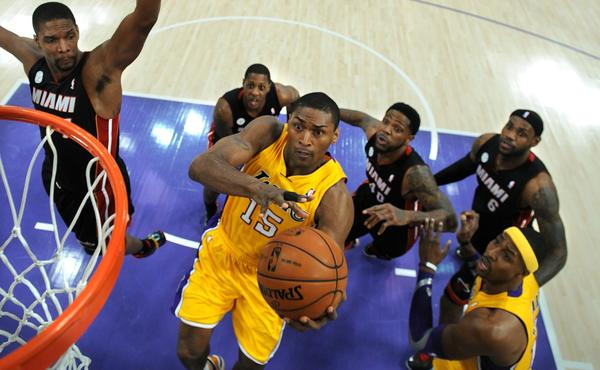 Lakers forward Metta World Peace doesn't intend to opt out of the final season of his $7.7 million contract.