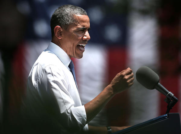 Obama gives speech about climage change