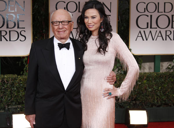 Rupert Murdoch and wife Wendi Deng Murdoch