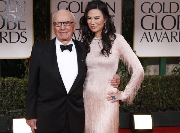 Rupert Murdoch and wife Wendi Deng Murdoch