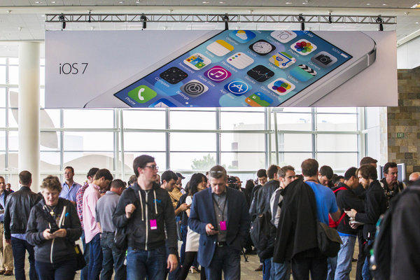 Apple may announce a new iPhone on Sept. 10, with the new iOS 7 expected later in the month. Above, Apple's Worldwide Developers Conference in San Francisco last June.