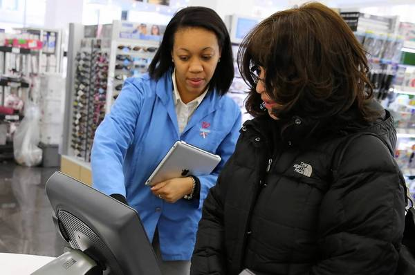 Traffic at Walgreen Co. stores open at least a year fell by nearly 4 percent in the quarter that ended May 31.