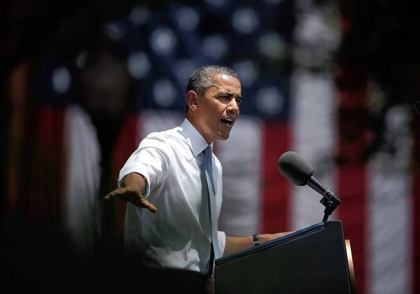President Obama describes his plan to fight global warming during a speech at Georgetown University in Washington.