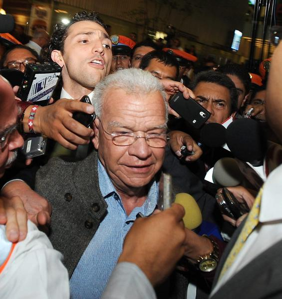The former governor of Tabasco state, Andres Granier, shown arriving in Mexico City this month, has been arrested on suspicion of tax fraud.