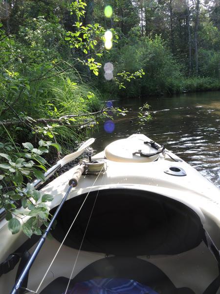 This fishing kayak took its first voyage on the Jordan River.