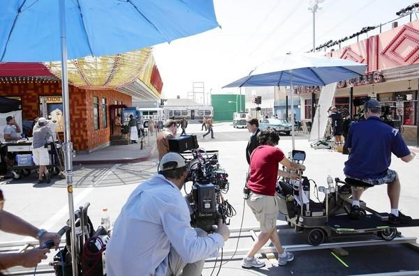 "Behind the scenes of CBS TV show ""Vegas,"" which is re-created the Vegas strip of the 1960s in a studio in Santa Clarita Studios."