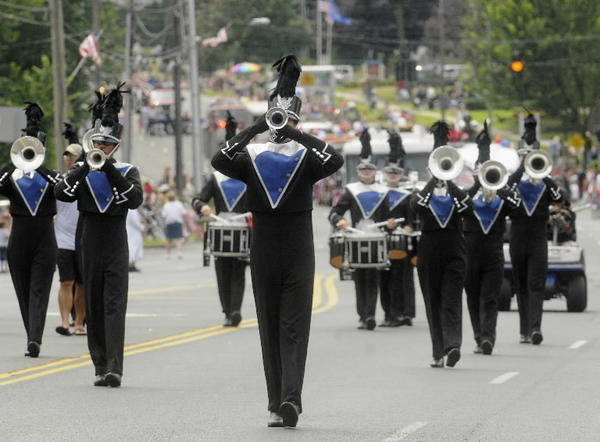 The 7th Regiment Drum and Bugle Corps marched in the Enfield Independence Day Parade in 2008.