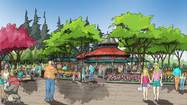 An architectural rendering of proposed additions at the Lincoln Park Zoo.