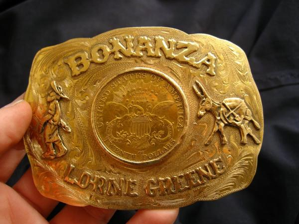 """Bonanza"" belt buckle"