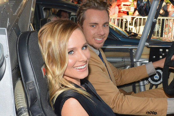 "Kristen Bell and Dax Shepard, shown at the premiere of their film ""Hit and Run"" last August, were inspired to get re-engaged after the Supreme Court rulings on same-sex marriage."