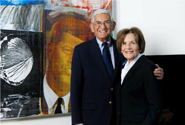Eli and Edythe Broad, at their Los Angeles home in 2011.