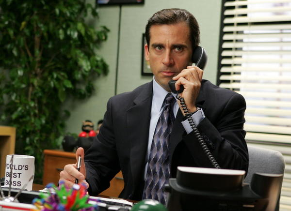 "Steve Carell as Michael Scott on ""The Office"""