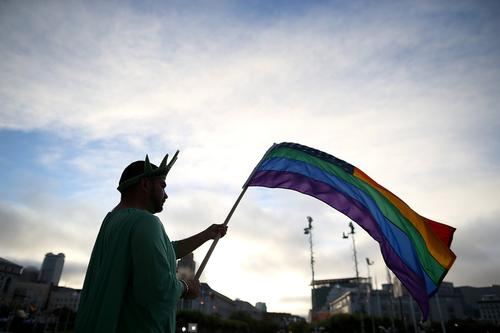 "The Supreme Court strikes down key parts of the federal Defense of Marriage Act and opens the way for gay marriage in California. Celebrities weigh in on Twitter. <br><br> <a href="" http://www.latimes.com/news/local/prop-8/""target=""_blank"">Full coverage on Prop. 8 and DOMA </a>"