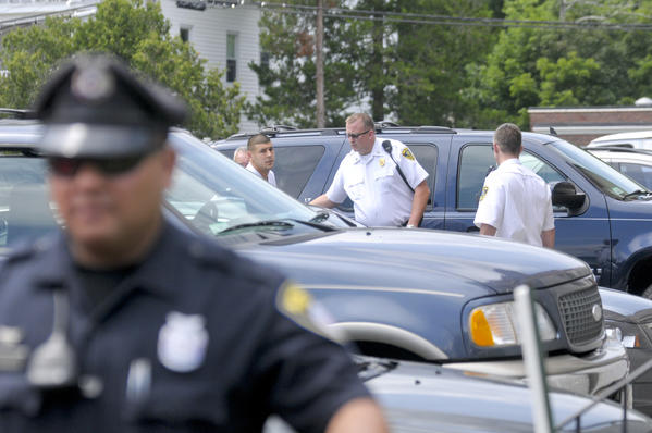 Former New England Patriot tight end Aaron Hernandez arrives to the Attleboro District Court House Wednesday afternoon.