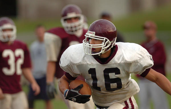 Aaron Hernandez, in this photo from 2006, was highly recruited out of Bristol Central High School.