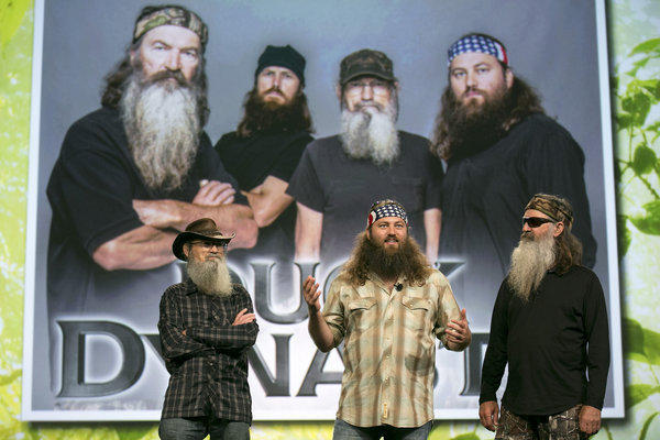 """""""Duck Dynasty"""" leads cable shows in viewership, according to Nielsen."""