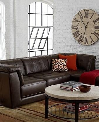 Stacey Leather Modular Living Room