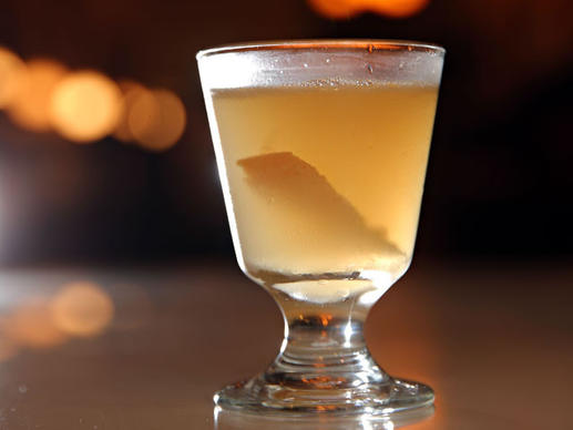 To prepare the Hemingway daiquiri, bar manager Andrew Shay shakes anejo rum and lime juice (but not sugar) with ice, grapefruit juice and a few drops of earthy-but-sweet maraschino liqueur, then strains it neat into a glass.