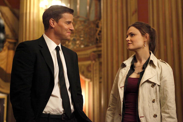 """David Boreanaz and Emily Deschanel star in Fox's """"Bones,"""" which will have its season premiere on Sept. 16."""