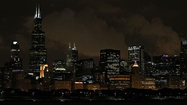 Chicago is seen at night in a 2011 file photo.