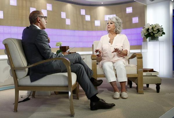 "Paula Deen, embroiled in controversy and already dropped by Smithfield, sat down with Matt Lauer on NBC's ""Today"" show on Wednesday."