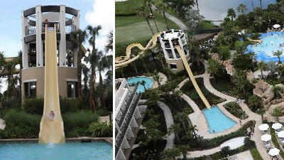 New water slides add thrills to Orlando World Center Marriott