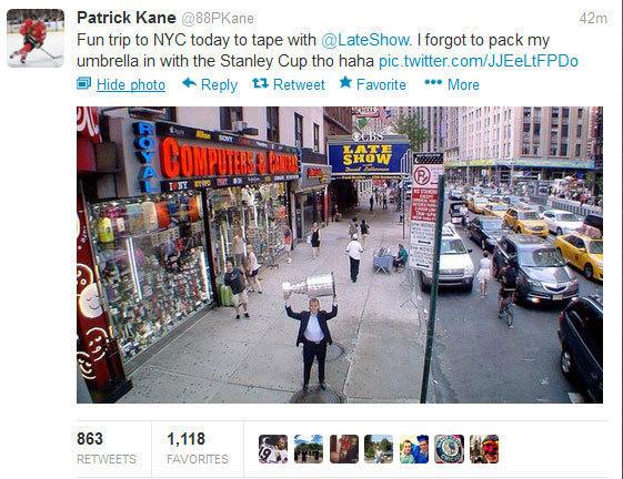 Patrick Kane tweet