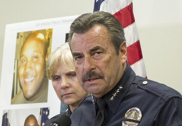 Prominent civil rights attorney Connie Rice acknowledges that Christopher Dorner may well have felt devastated when he lost his LAPD job, but in accusing the department of racism he falsely appropriated the real hostility experienced by the department's black pioneers. Above: During Dorner's killing spree, Los Angeles Police Chief Charlie Beck met with the press to discuss the results of an internal review that he ordered to determine if Dorner's firing was justifiable.