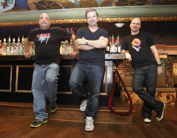 DJs Dave Cannalte, from left, Chris Fortier and Kimball Collins will celebrate AAHZ Legacy (The Final Reunion) on Wednesday at The Beacham.