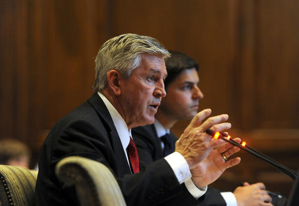 Gary D. Maynard, Maryland Secretary of Public Safety and Correctional Services, speaks at a previous hearing.