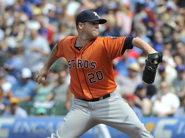 Houston pitcher Bud Norris is 3-0 with an ERA of 0.43 in three starts against the Angels this season.