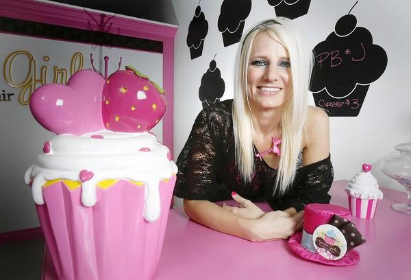 Annette Starbuck at the Goodie Girls Cupcakes Glendale store in 2011. Starbuck plans to open a second location in La Canada Flintridge in July.