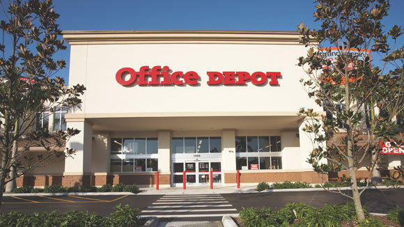 An exterior of an Office Depot store.