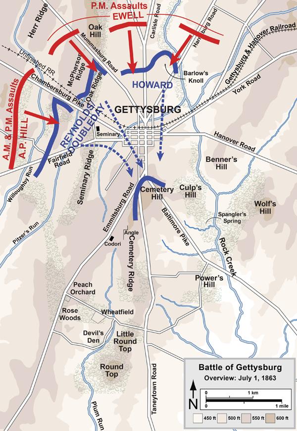 Battle Of Gettysburg - Day 1