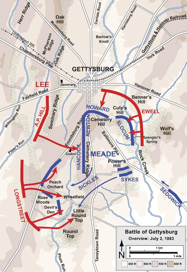 Battle Of Gettysburg - Day 2