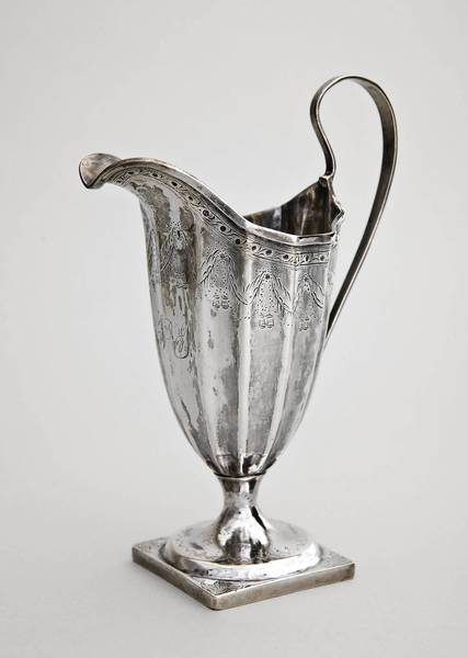 A silver creamer made by Paul Revere is on diplay for one day only - July Fourth - at the Morse Museum in Winter Park.