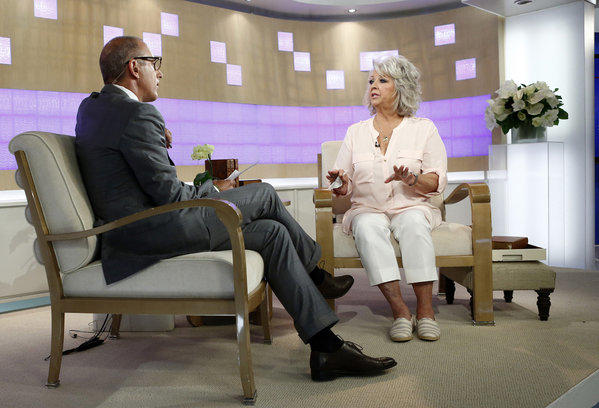"Celebrity chef Paula Deen appears on NBC News' ""Today"" show with host Matt Lauer."