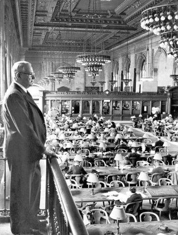 William Bergquist and the reading room of the Public Library Of New York.
