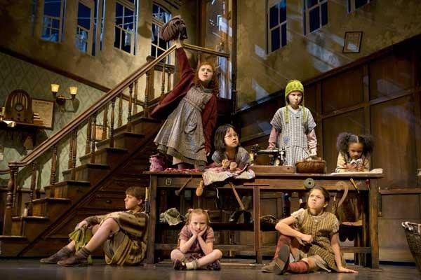 """Annie: It's the Hard Knock Life, From Script to Stage"" on KOCE. Pictured, Lilla Crawford, top left, as Annie."