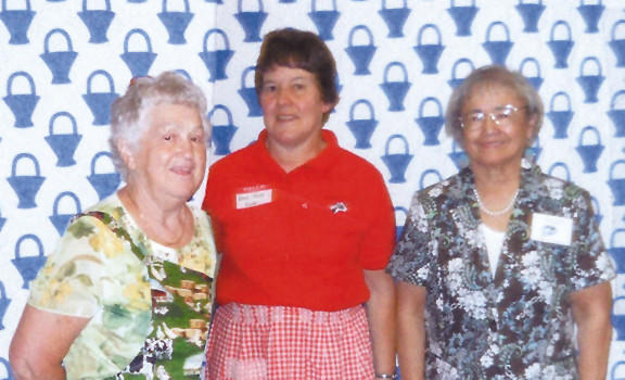 The Washington County Homemakers held their annual meeting June 10 at the Ramada Plaza. Pictured, from left, are Helen Thomasson, annual meeting chairwoman; Terrie Shank, guest speaker; and Brenda Finch, president of the Washington County Homemakers.